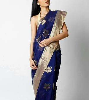 Chanderi lotus weaving sarees