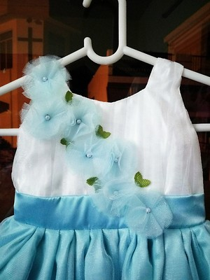 Sky Blue Party Frock