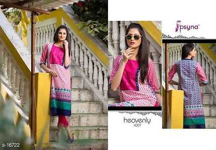 Heavenly 5 kurti Fabric: Cotton Cambric