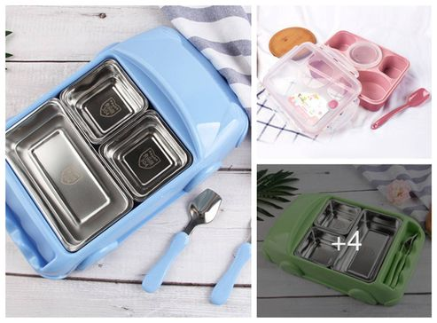 imported-fleurette-plastic-stainless-steel-lunch-box-for-kids