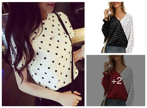 imported-exotic-polyester-dot-printed-top