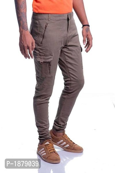 Men Pockets Cargo Pants Skinny Fit