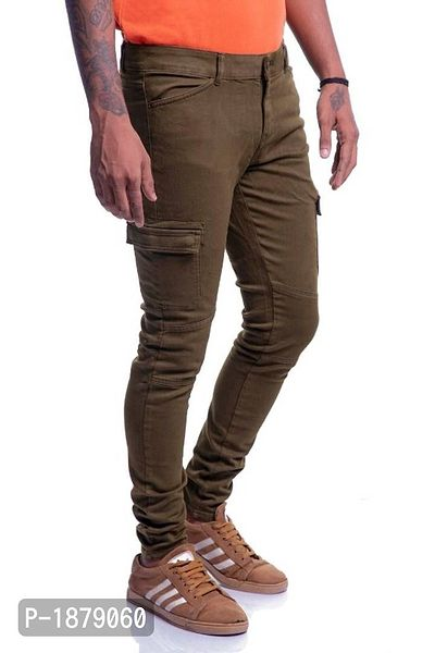 Timbre Men ^ pockets Cargo Pants Skinny Fit