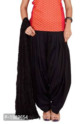 Women's Cotton Solid Full Patiala Salwar And Dupatta Set Combo (Free Size).