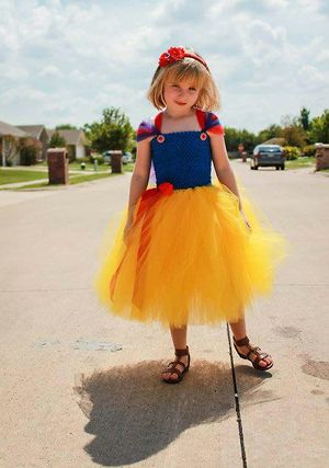 party princess yellow with red bow dress 0-10 yr