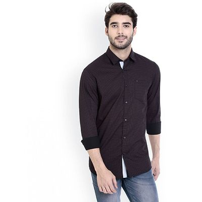 Multicoloured Cotton Printed Slim Fit Casual Shirt