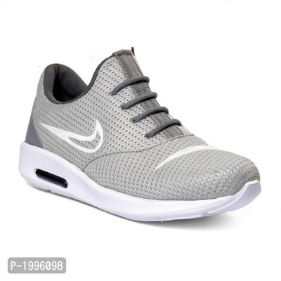 Grey Trendy Sports Running Shoes