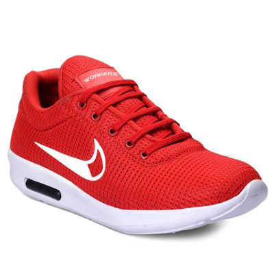Red Casual Mesh Running Shoes