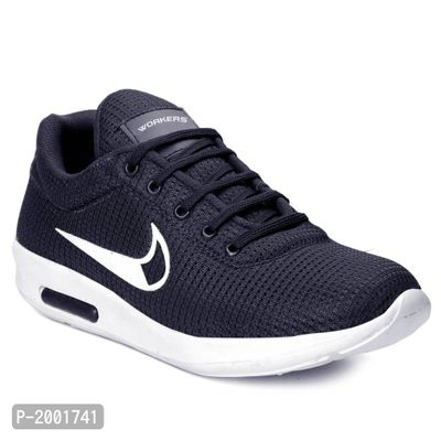 Blue Casual Mesh Running Shoes