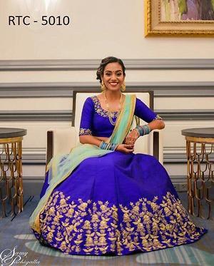ROYAL BLUE CHOLI FOR WEDDING