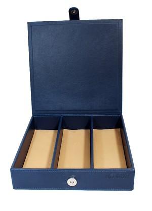 Leather box multi-user (blue)