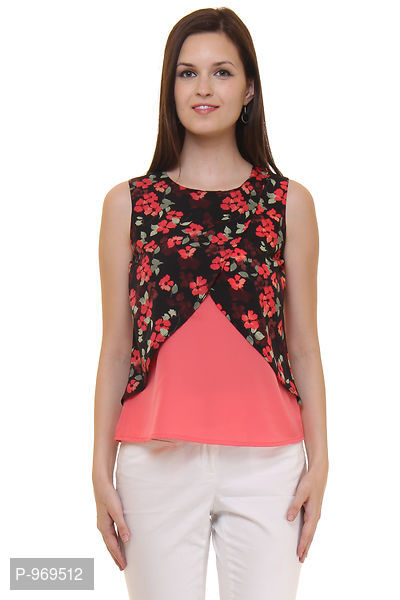 Crepe Floral Printed Top