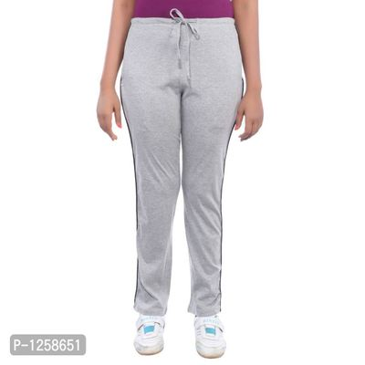Grey Cotton Blend Track Pant