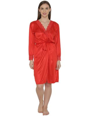 Short Satin Robe