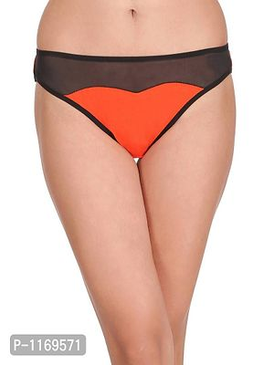 Cotton Low Waist Sweetheart Bikini with Powernet Panel