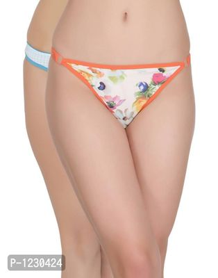 Pack of 2 Low Waist Checkered Thong