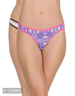 Pack of 2 Cotton Low Waist Printed Thong with Powernet Sides