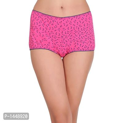 Pink Cotton Spandex Boy Shorts