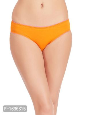 Orange Cotton Low Waist Bikini Panty