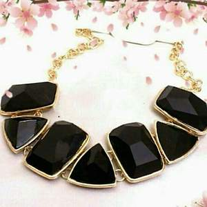 Black fashion necklace by The Sassy Chic
