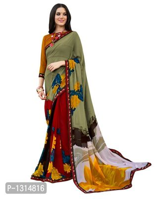Multi Coloured Georgette Saree