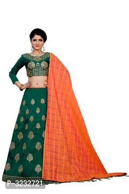 Taffeta Silk Zari Work Lehenga Choli With Dupatta