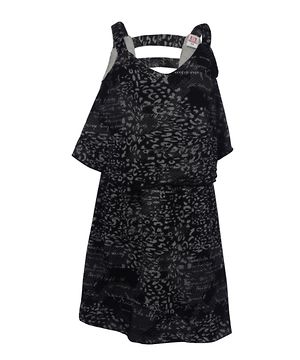 Lil Orchids Girls Applique Dress with Polka Dots