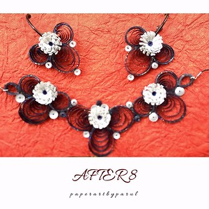 Black Quilled Jewellery Set for special ocassion