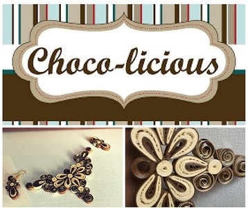 Chocolicious quilled jewellery set