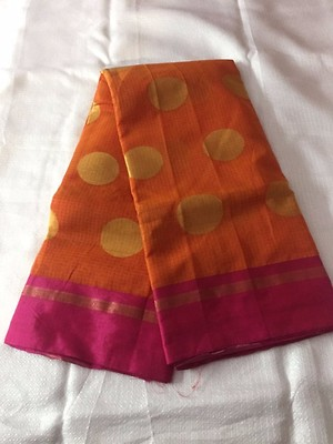 pure banaras cotton sarees with brocade weaving booti and broad border  along with running blouse