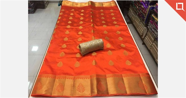 tussar saree with all over butta