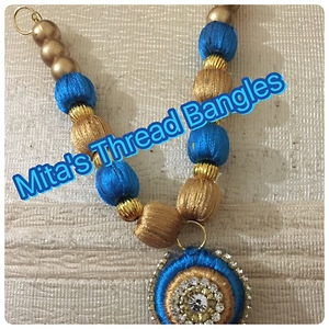 Mita's Thread Bangles Necklace set