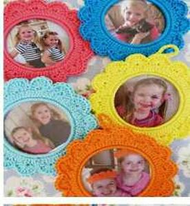 crochet photo frame