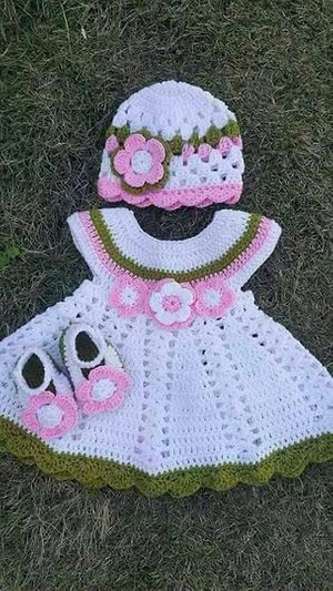 Crochet Baby Frock Set - Buy latest collections - Page 2 - GlowRoad
