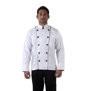 Classic Chef Coat with Mushroom Buttons