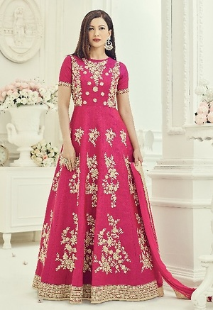 Pink embroidered suit 4158BK18013