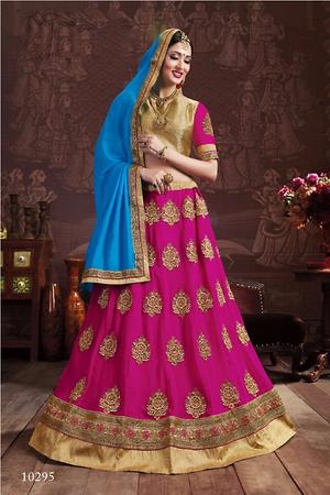 Women wear pink lehenga