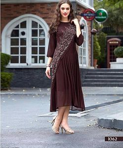 Brown evening wear kurti 4196bk1062