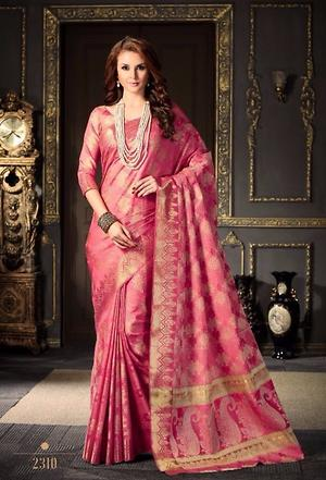 Women wear pink saree 4278bk2310