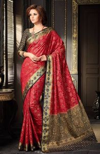 Women wear red saree 4278bk2316
