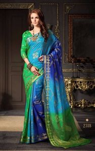 Two color indian wear saree 4278bk2318