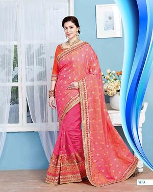 Pink ladies saree 4179bk709