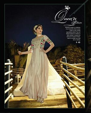 Exclusive cream gowns 4434BK419