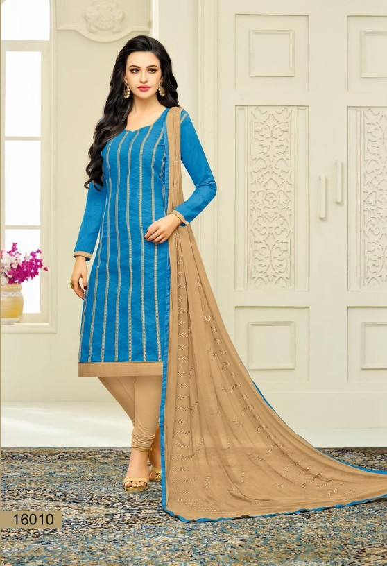 Attractive heavy patch  work Embroidery Jacquard Designer Cotton Unstitched Dress Material. 4756BK16010