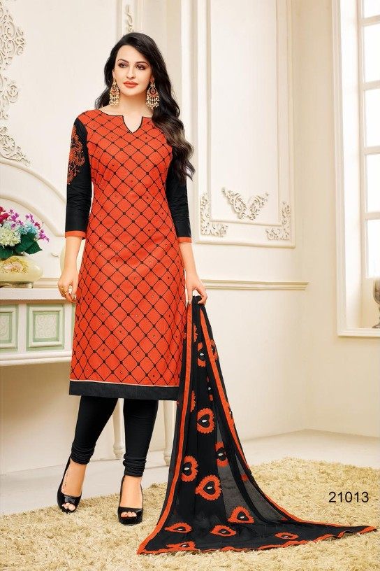Attractive heavy Thread work And patch  work Embroidery Jacquard Designer Cotton Unstitched Dress Material   4757BK21013