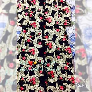Floral black cape Designer Kurta
