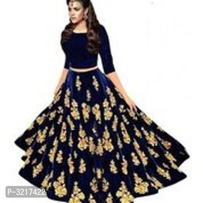 Embroidery Velvet Lehenga Choli With Net Dupatta