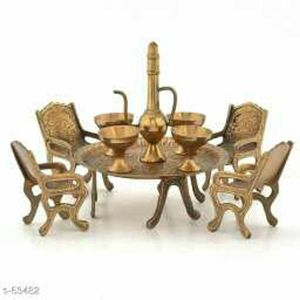 Unique Design Maharaja Dining Set (Brown)