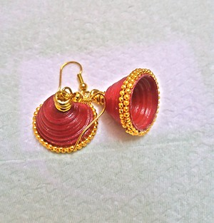 Bright Red Fashionable Jhumkis
