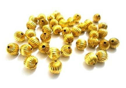 Gold beads for jewellery making